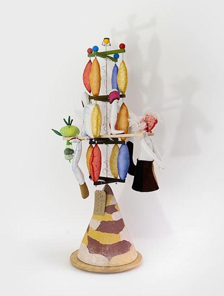 Seesaw by Alexandra Drysdale, 2018 dimensions: 104 cm x 50 cm x 30 cm; mixed media