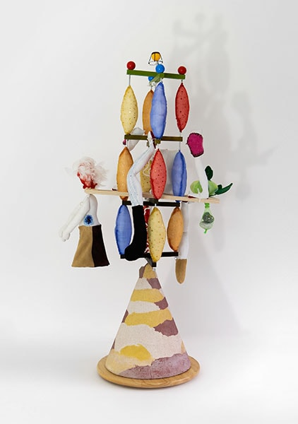 Seesaw by Alexandra Drysdale, 2018 dimensions: 104 cm x 50 cm x 30 cm; mixed media