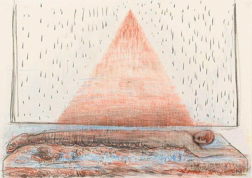 Horizontal On Earth - Triangle Drawings by Alexandra Drysdale, series of drawings in 2018