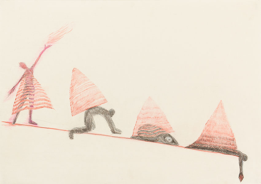 Triangle Drawings by Alexandra Drysdale, series of drawings in 2018
