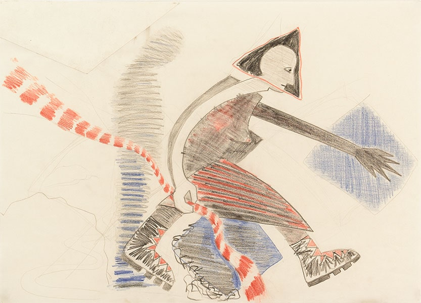 Crossing Boundaries, Triangle Drawings by Alexandra Drysdale, series of drawings in 2018