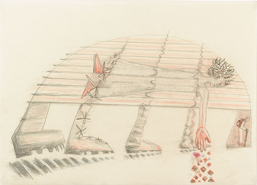 Funeral March, by Alexandra Drysdale, series of drawings in 2018
