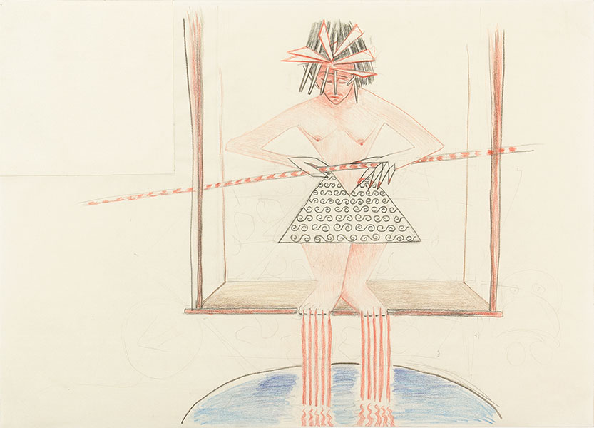 Cutting Edge, Triangle Series by Alexandra Drysdale, series of drawings in 2018