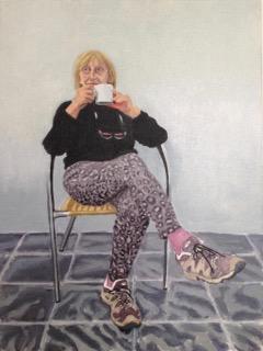 Mug shot of Rosemary Catling, painting by Alexandra Drysdale