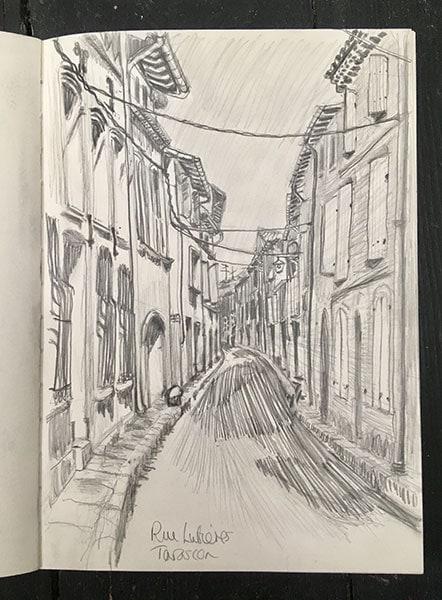 Rue Lutieres, Tarascon, 2018, by Alexandra Drysdale