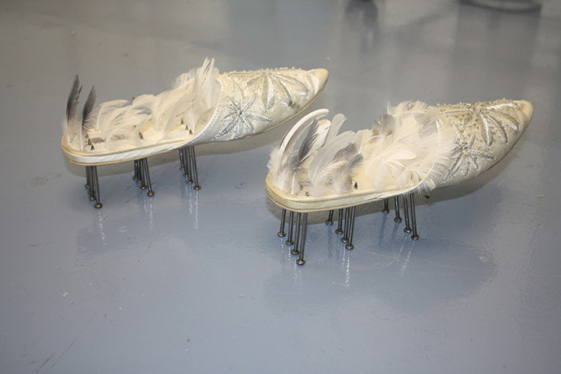 Resurrection Slippers - Easter Triptych at St Peter's Church - an exhibition by Alexandra Drysdale in 2011