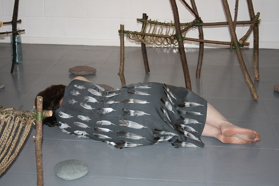 Down to Earth - installation and performance by Alexandra Drysdale in 2011