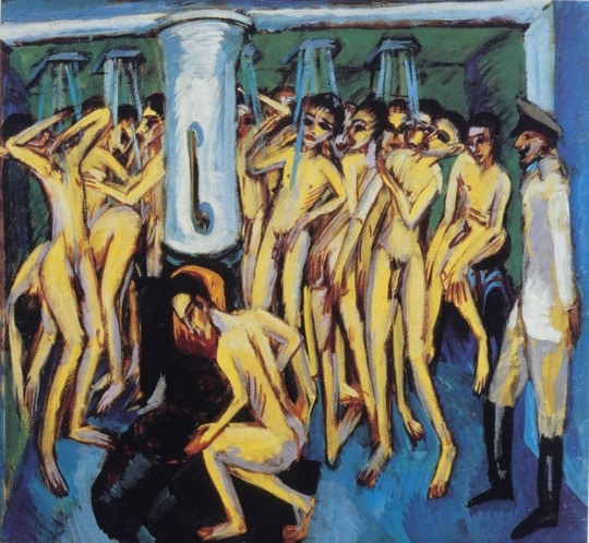 Artillery men in the shower, Kirchner