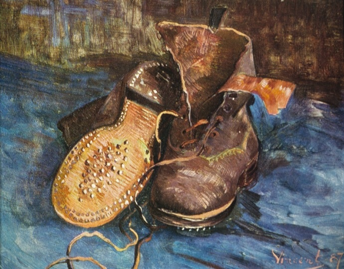 Boots, by Van Gogh - discussed in the art history lecture entitled 'Down to Earth' presented by Alexandra Drysdale