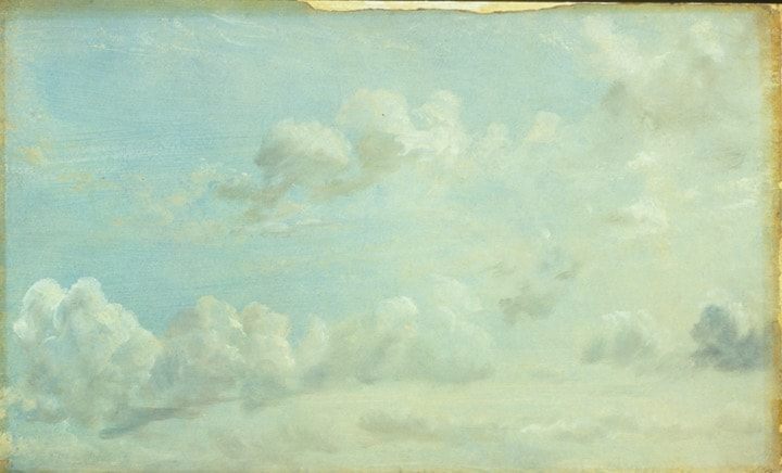 Cloud study, by Constable