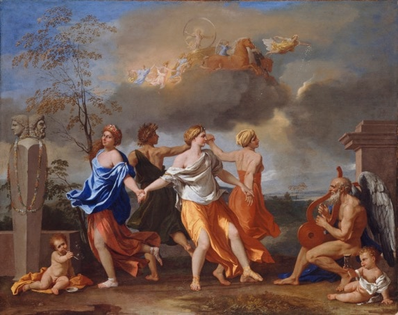 Dance to the music of time, Poussin - one of the paintings studied and disucssed in 'Renaissance to Modernism'. An art history course by Alexandra Drysdale