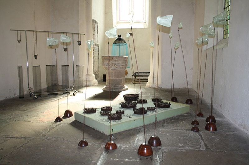 Easter Art Installation at St Peter's Church - an exhibition by Alexandra Drysdale in 2011