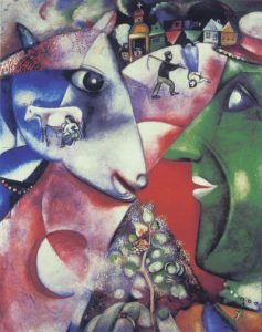 I and the Village, by Chagall - part of the material subject matter for Art History lecture on the place of red in art