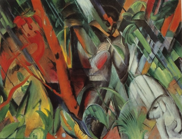 In the Rain, by Franz Marc - part of the Good The Bad and THe Ugly - art history lecture on early 20th Century art