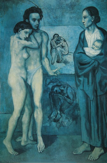 La Vie, Pablo Picasso, used within Alexandra Drysdale's art history lecture on the use of the colour blue in art