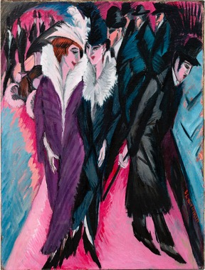 Kirchner - Street in Berlin - part of an art history lecture on early 20th century German art by Alexandra Drysdale