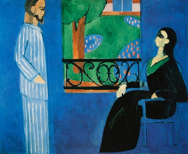 The Conversation by Matisse, referenced by Alexandra Drysdale in her art history lecture entitled Out of the Blue