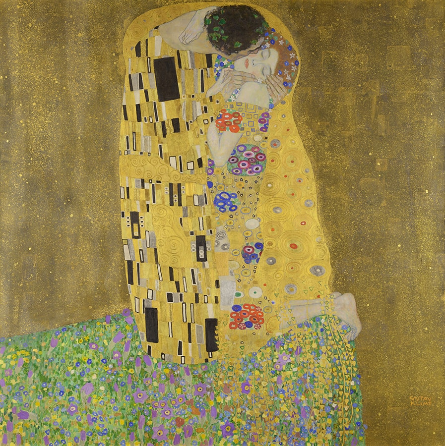 The Kiss, by Gustav Klimt - absolute classic artwork depicting love