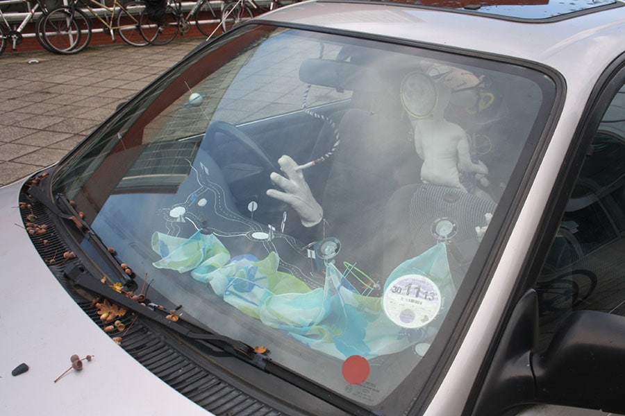 M522-HBD - Alexandra Drysdale transformed her car into an artist's playpen. 2013