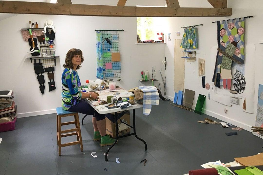 Alexandra Drysdale in her Pitcombe studio, near Bruton in Somerset